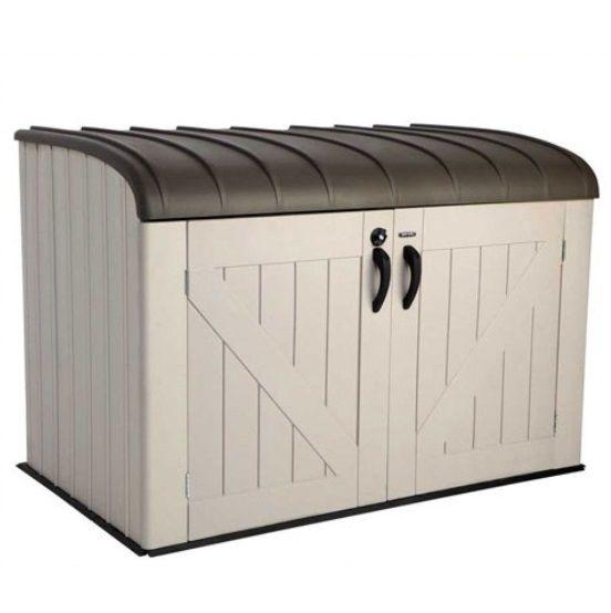 Lifetime 60088A Outdoor Garbage Horizontal Storage Shed Bin
