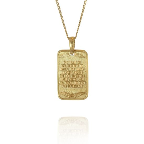 Serenity prayer pendant in gold or sterling silver be recovery serenity prayer pendant in gold or sterling silver mozeypictures Images