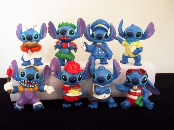 "8pcs Toy Disney Lilo & Stitch Figures Set 5-7cm/2.5"" Cake Topper Set A#US #Disney"
