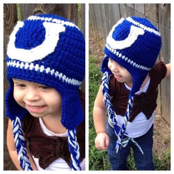 1eb5d8fd909 Colts Hat - Crochet Colts inspired Hat - All sizes Indianapolis colts on  Etsy