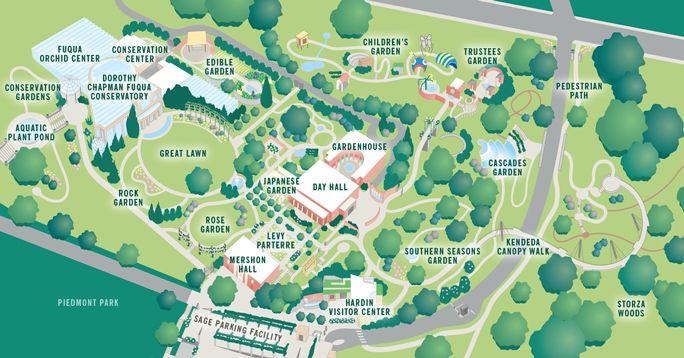Atlanta Botanical Gardens Interactive Map Atlanta Botanical