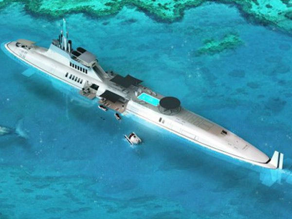 Highly customisable and available only on order, Austrian-based company Motion Code: Blue gives the world its first submersible super yacht for private use //