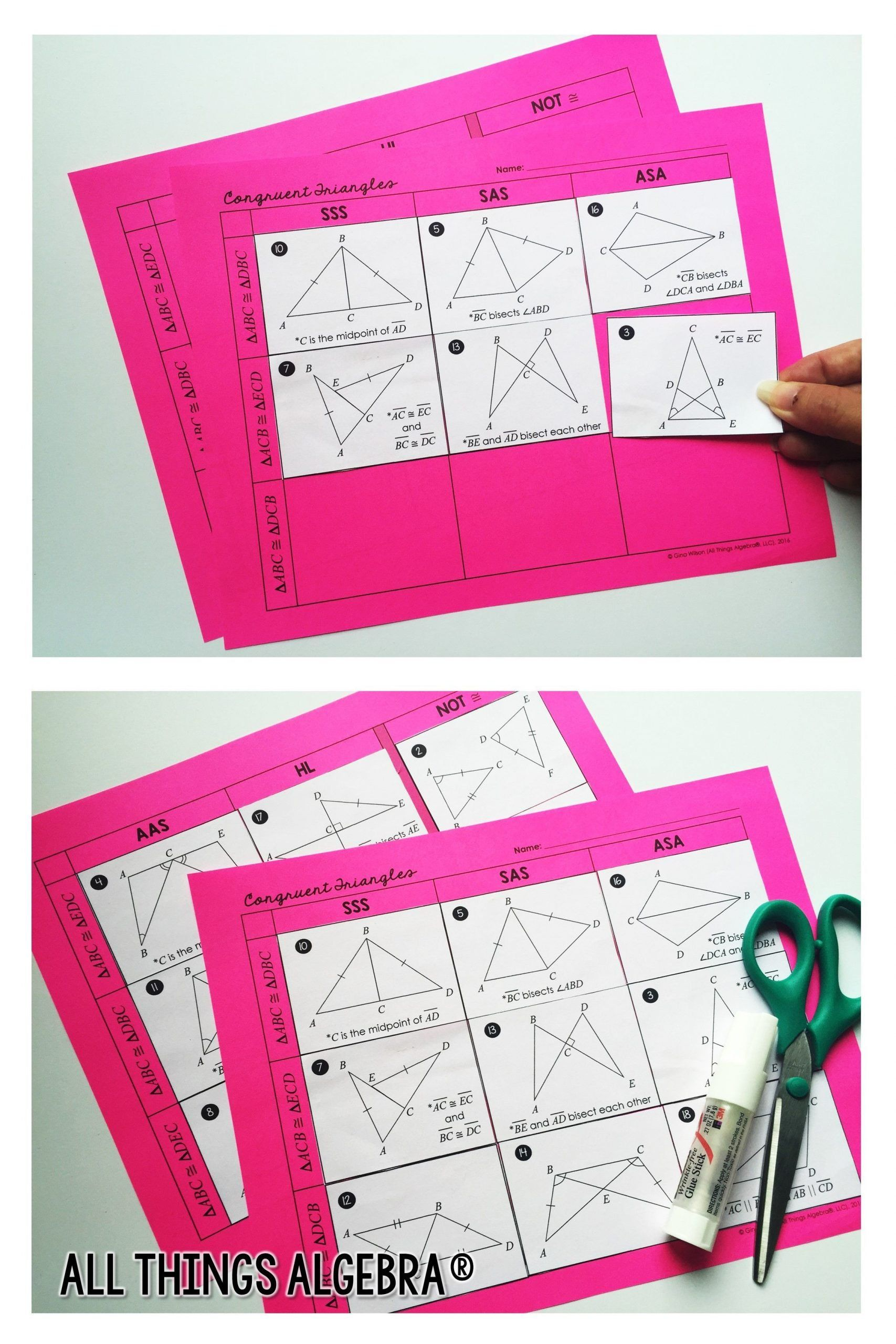 Congruent Triangles Worksheet Answers Pin On Math Grades 7