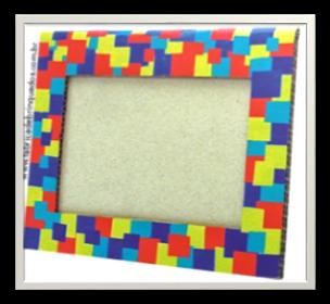 اشغال يدوية بالكرتون اعمال بالورق المقوى بالصور بالخطوات سهلة Frame Photo Frames Cardboard