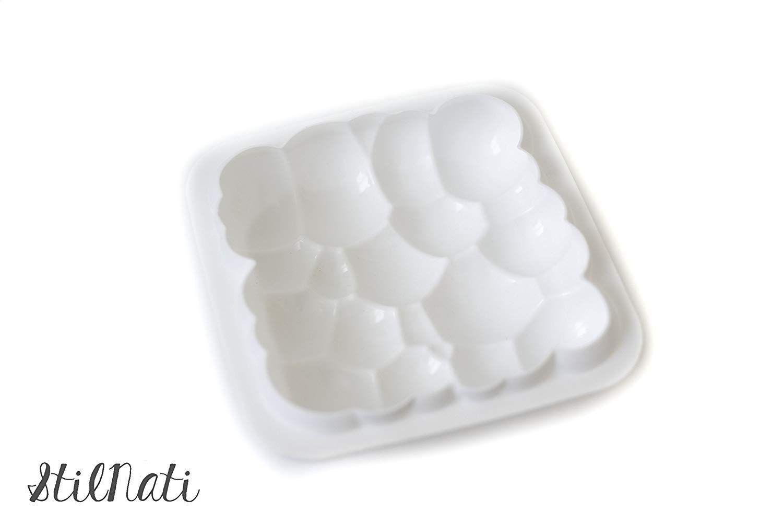 Stilnati Brand 1 Pcs 3d Bubbles Sky Cloud Silicone Cake Mold White