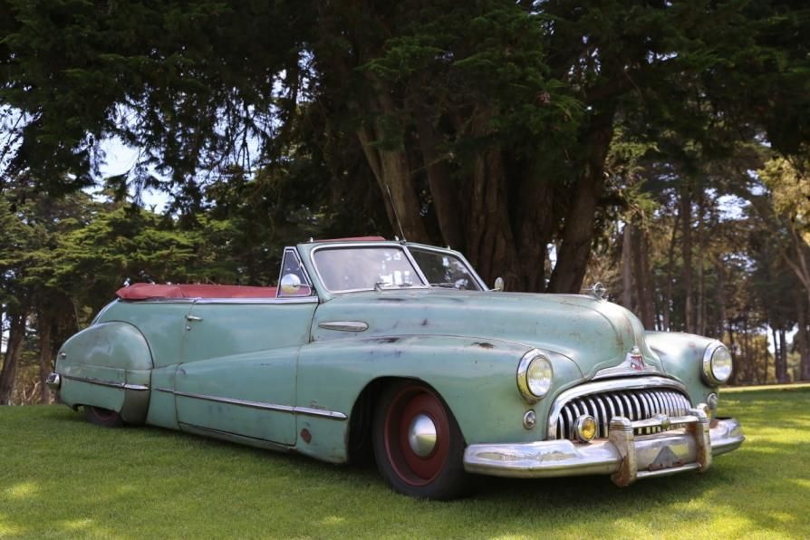 L.A.-based Icon shop turns out...this 48 Derelict — a Buick Super Convertible that looks aged to perfection, with a 700-hp Vette motor for motivation