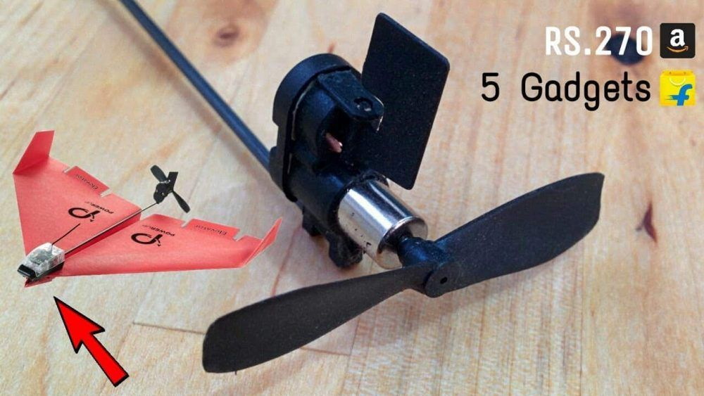 Paper plane drone can be controlled using virtual reality headset