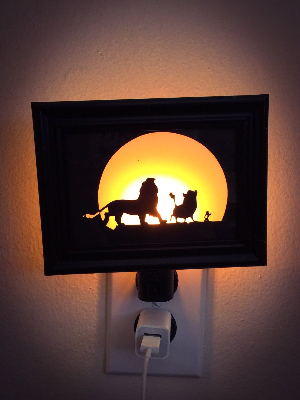 Lion King Inspired Night Light by PracPerfCrafts on Etsy https://www.etsy.com/listing/231720204/lion-king-inspired-night-light