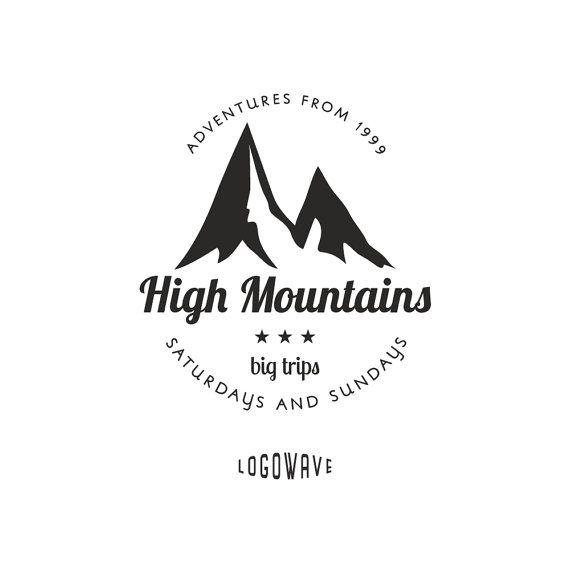 Natural Brand Logo Badge Design: Mountain Logo . Sport Logo . Outdoor Logo . Freetime Logo