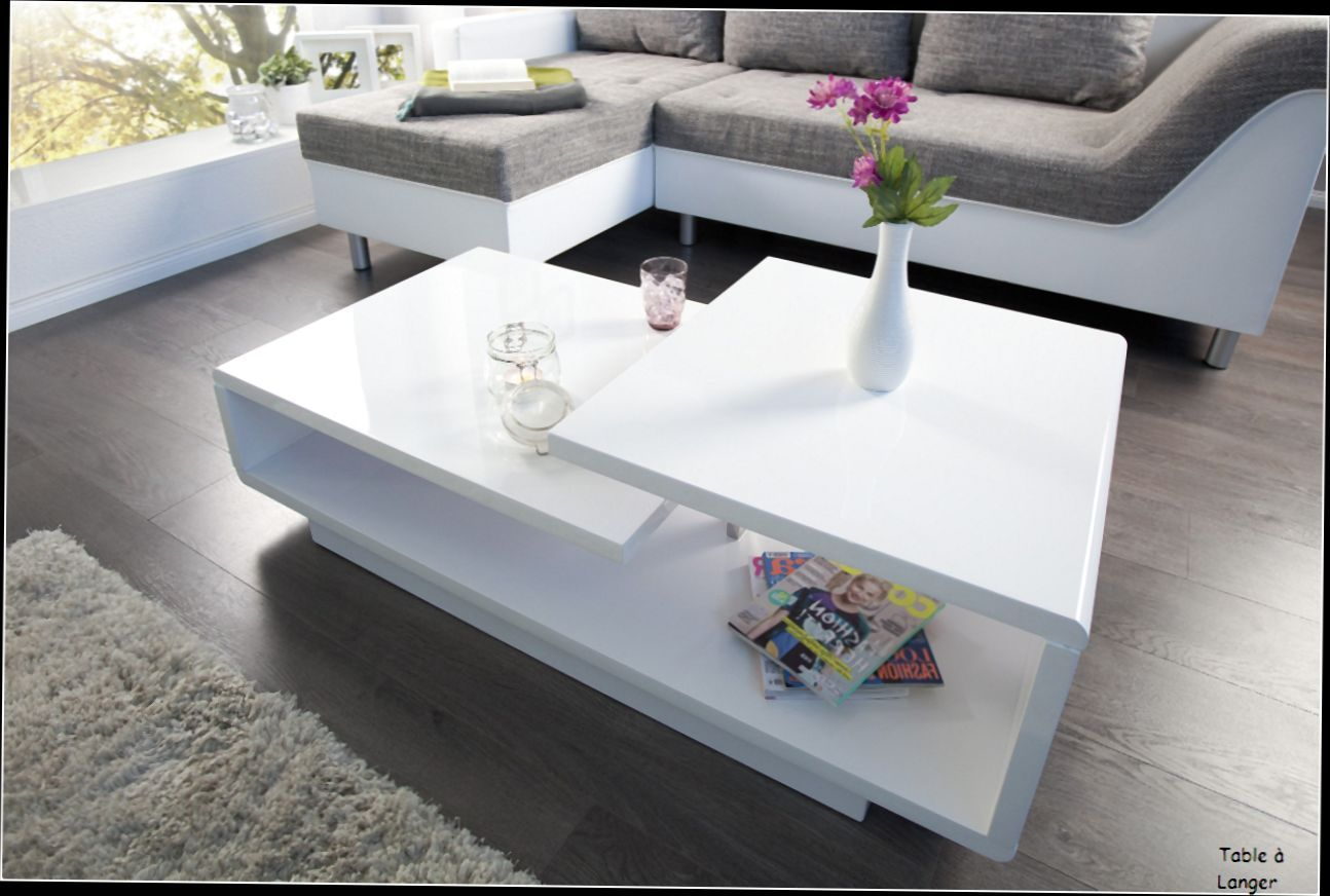 Etonnant Table Basse Rectangulaire Pas Cher Table Basse Laquee Table Basse Blanc Table De Salon