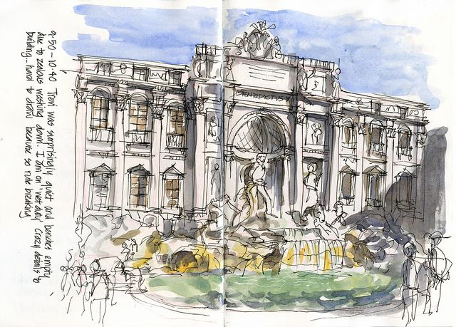 here are some of my favourite sketches from 9 nights in rome in this was part of an 11 week sketching adventure in usa uk and italy