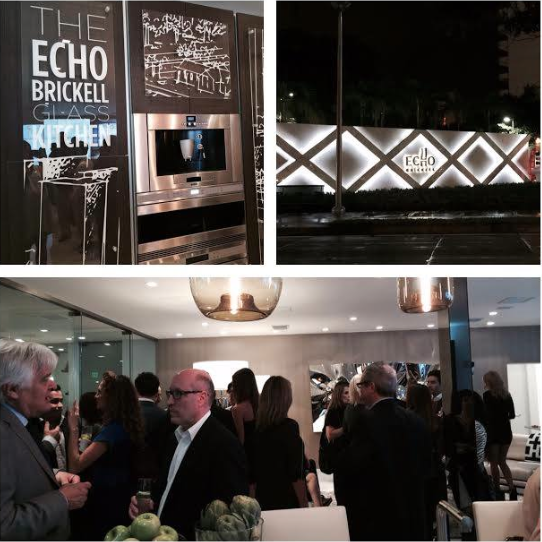the opening of the Echo Brickell Sales Center with a fabulous cocktail event that included architect Carlos Ott as well as South Florida's top brokers.