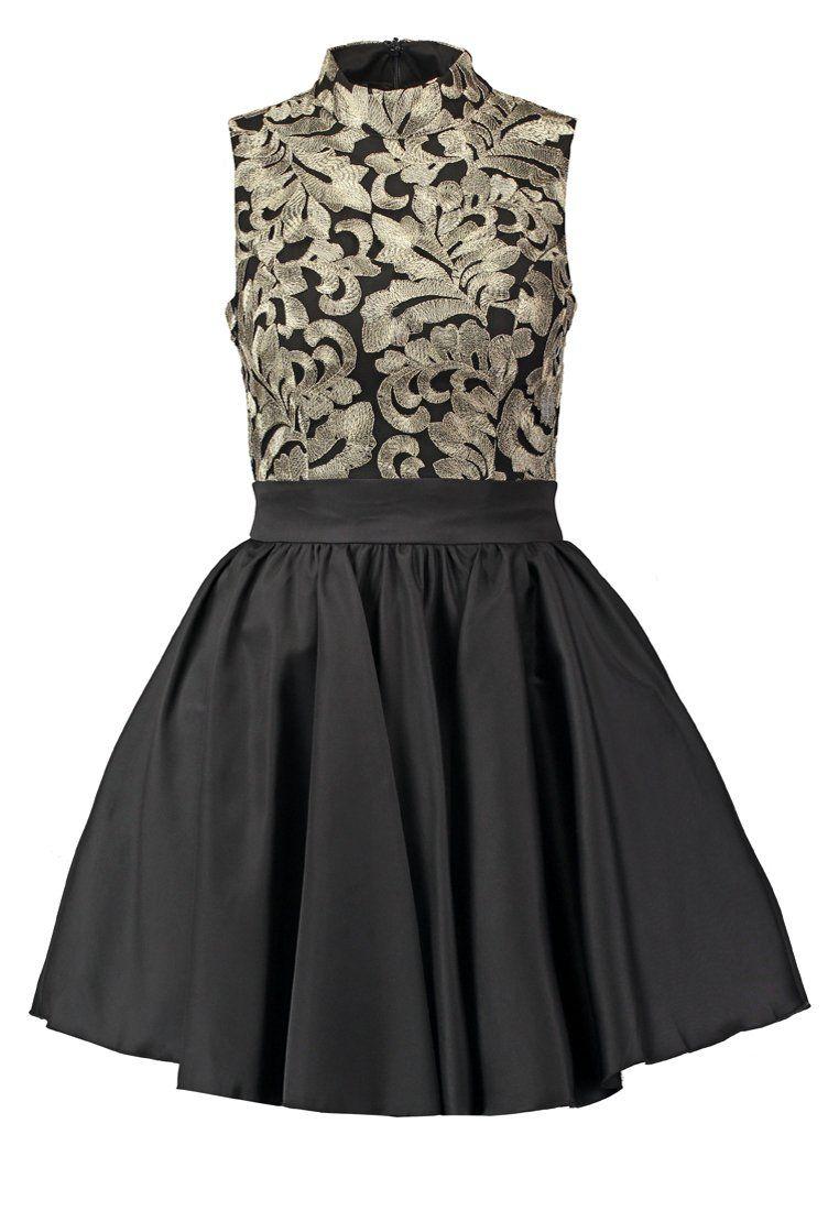 Chi Chi London SAPPHIRE Sukienka koktajlowa black/gold | Studniówka ...