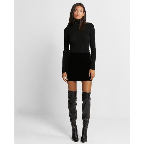 High Boots with Short Dress
