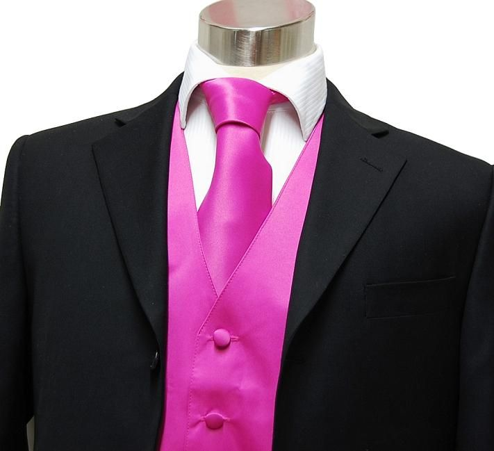 Dark Pink Tuxedo: We Saw A Wedding Party While We Were Were In Chicago And