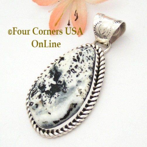 Four Corners USA Online - White Buffalo Turquoise Pendant Navajo Artisan Harry Spencer NAP-1634, $187.00 (http://stores.fourcornersusaonline.com/white-buffalo-turquoise-pendant-navajo-artisan-harry-spencer-nap-1634/)