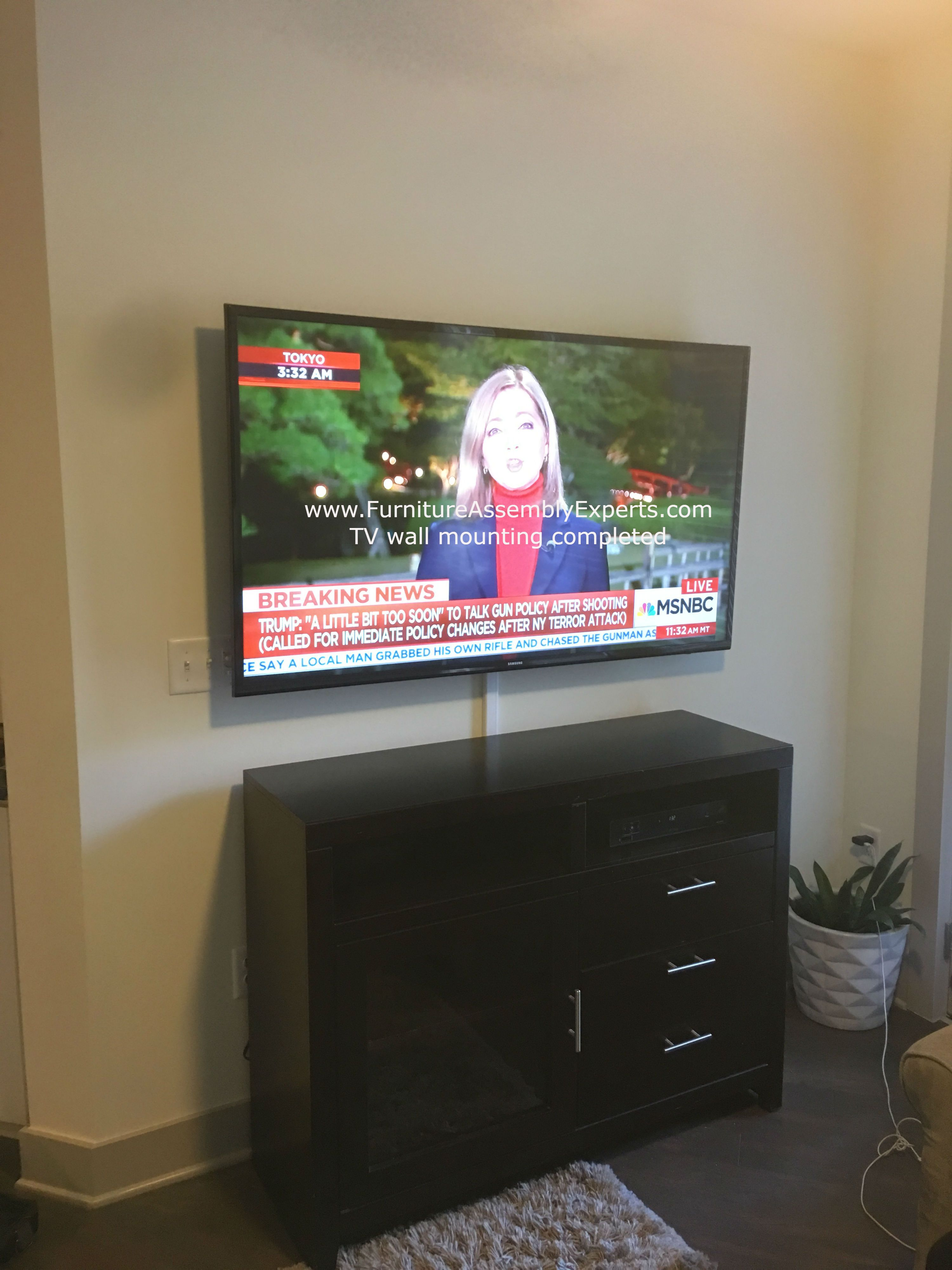 Tv Wall Installation Service Completed In Philadelphia By Furniture Assembly Experts Company We Servic Tv Wall Tv Wall Mount Installation
