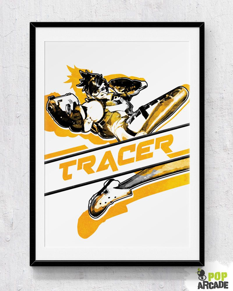 Overwatch - Tracer Print/Poster | Soda Arcade | Tracer | Pinterest ...