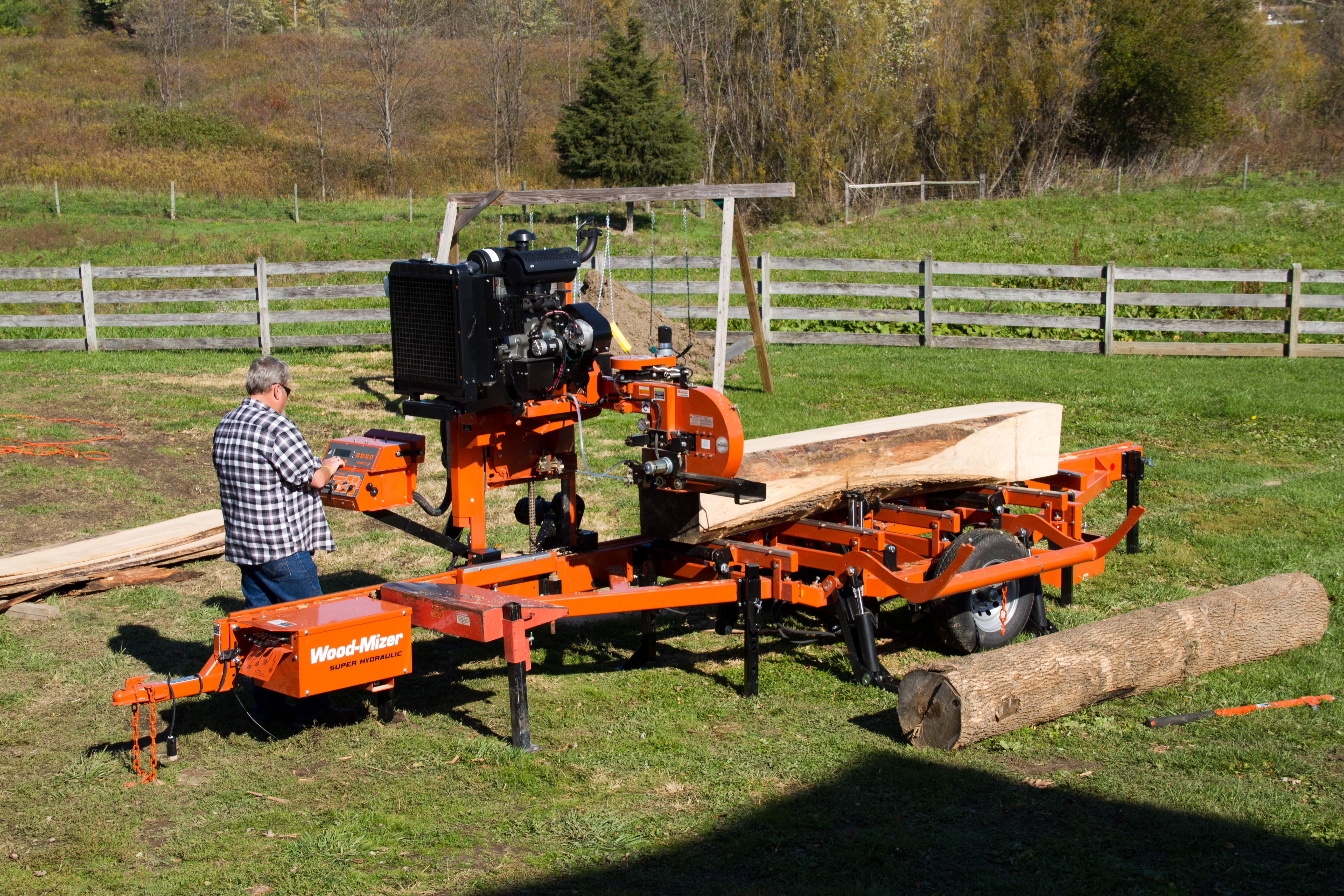 lt40 super hydraulic step up to high production wood mizer