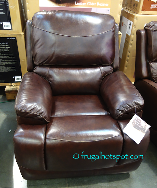 Costco Simon Li Furniture Leather Glider Recliner 319 99 Frugal Hotspot
