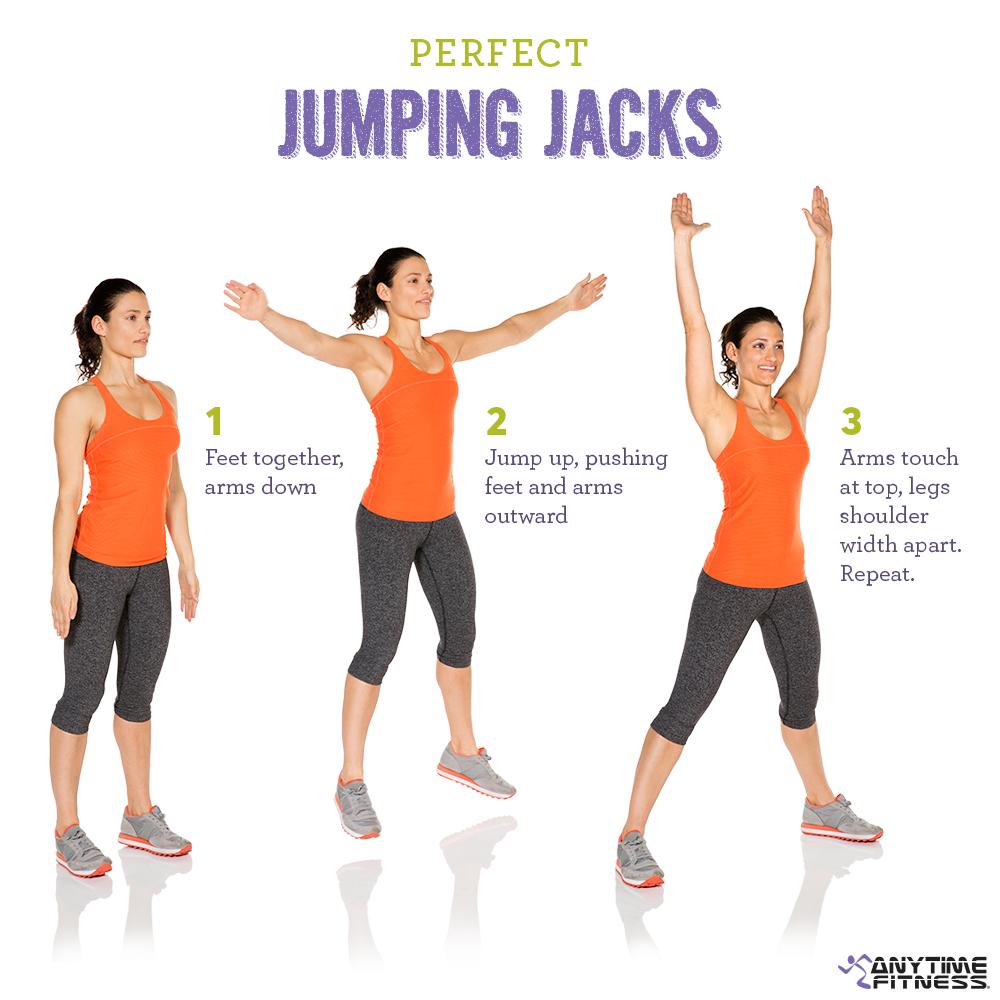Perfect jumping jacks that burn calories!   Anytime ...