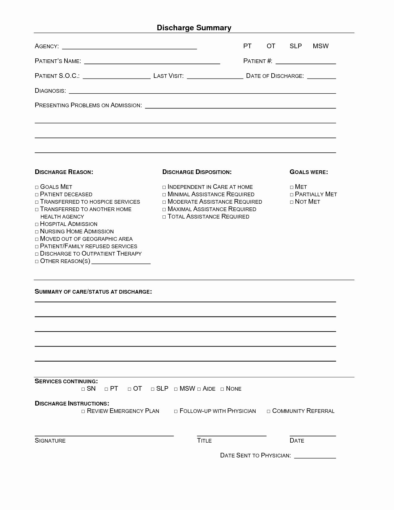 Patient Discharge Form Template Awesome 15 Of Hospital Emergency Room Discharge Template Bill Template Receipt Template Templates
