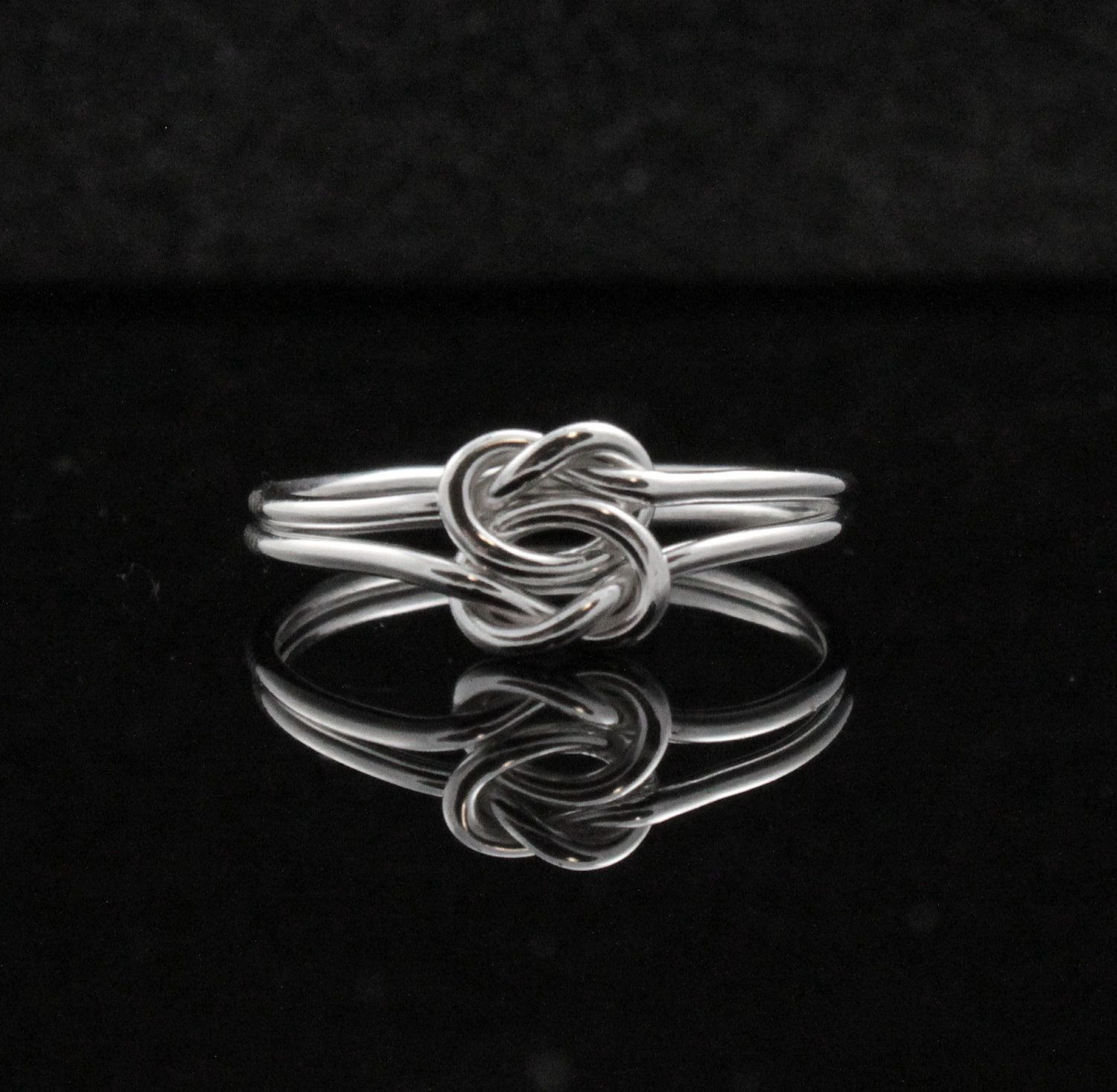 Double knot ring double infinity ring sterling silver infinity double knot ring double infinity ring sterling silver infinity ring celtic knot chinese knot commitment ring 3200 via etsy biocorpaavc Gallery