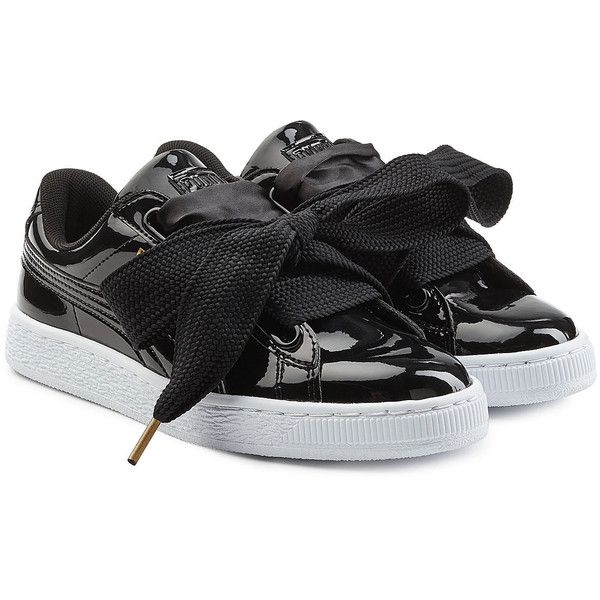 factory price b1f01 03495 Puma Basket Patent Sneakers ($105) ❤ liked on Polyvore ...