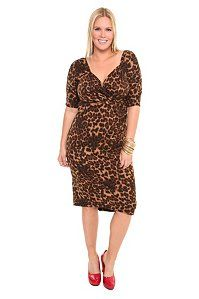 7b70c4a27dca Leopard Wiggle Sweater Dress...paired with red or blue accessories...I like.