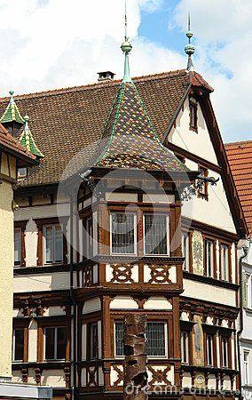 Ancient German Architecture In The City Esslingen Am Neckar