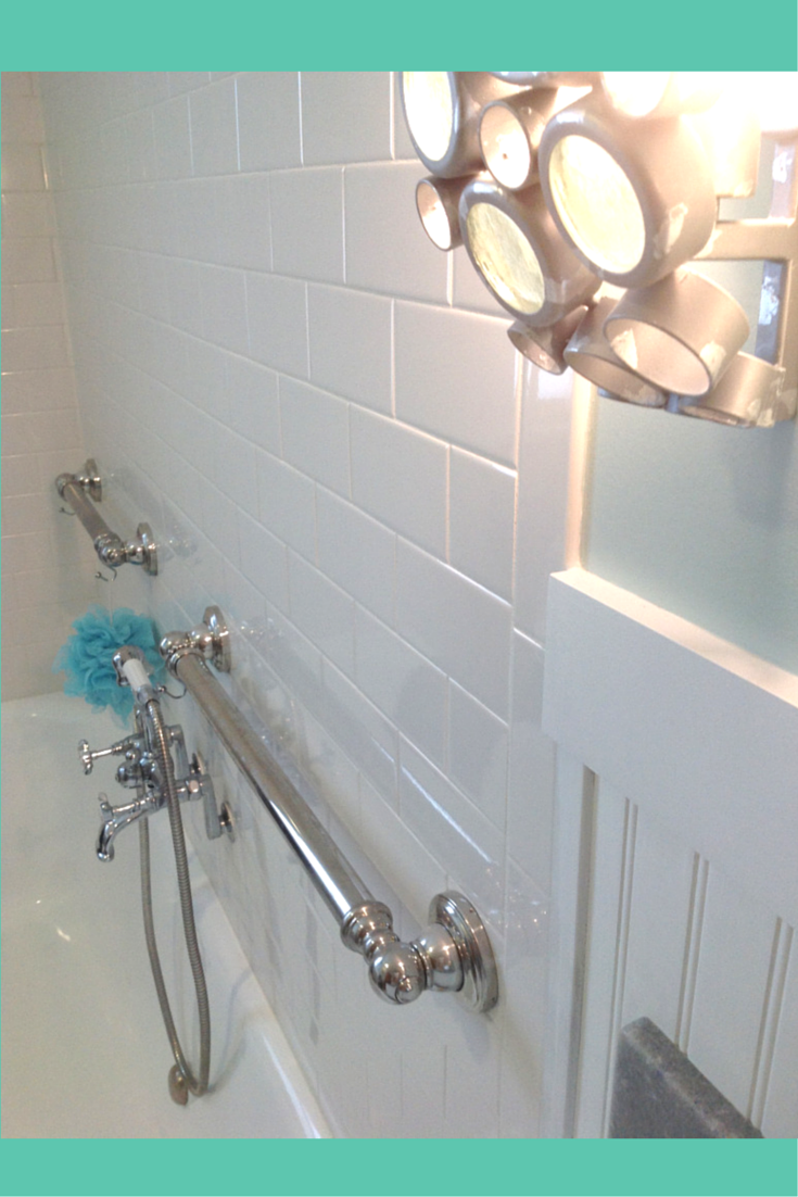 Decorative Grab Bars In A Cottage Style Home Decor. Safety Can Fit With  Style!