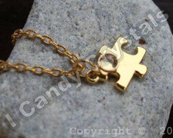 Autism Puzzle Piece Necklace Autism Pinterest Puzzle piece