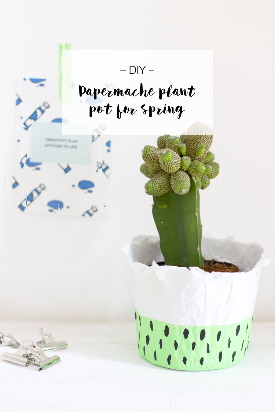 Diy Paper Mache Planter Succulents Such Diy Paper Planters