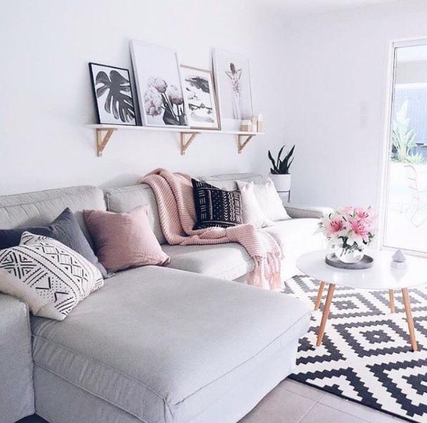 Living Room Rose Gold Home Decor Novocom Top