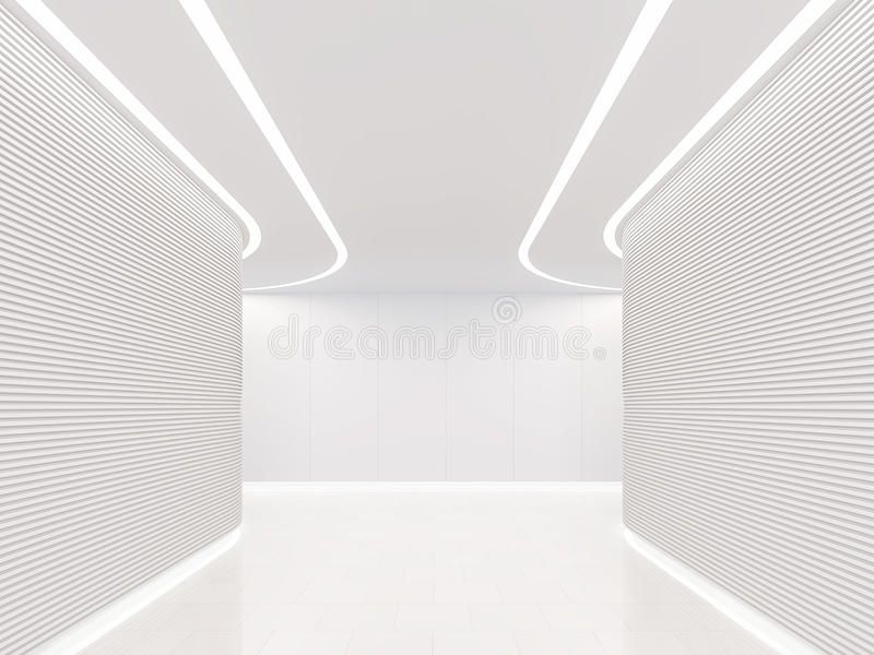 Leeg wit ruimte modern ruimte binnenlands 3d teruggevend beeld. Foto ...