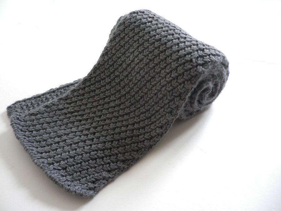 Extrawarmmensscarf2g Knit Patterns Pinterest Knit