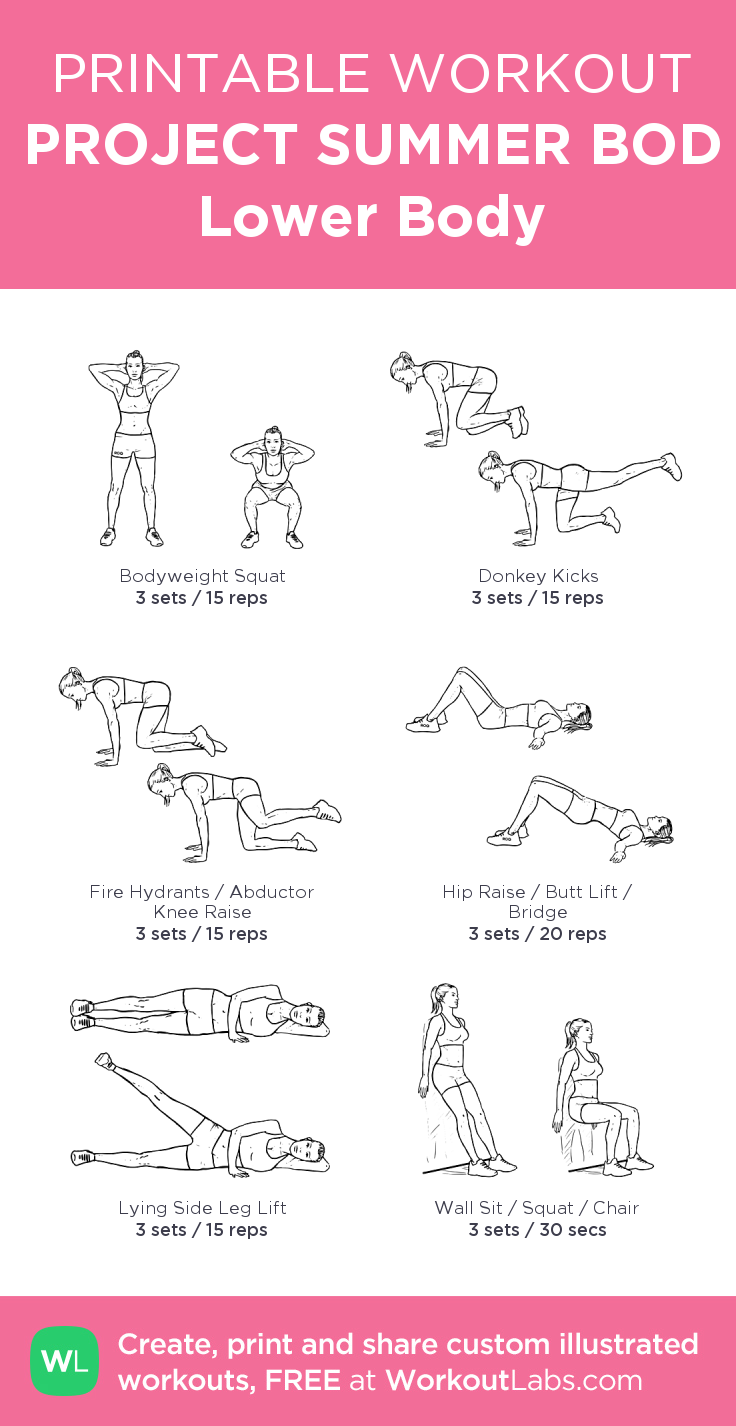 PROJECT SUMMER BOD Lower Body my visual workout created at