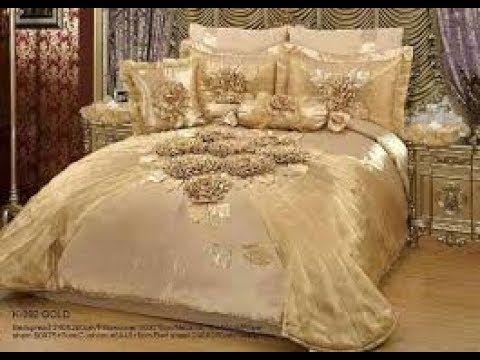 مفارش سرير تركية للعرسان فرشات سرير للعروس Turkish Bed Covers Youtube Bed Linens Luxury Doll House Curtains Bed Covers