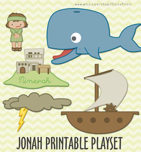 Jonah and the Whale Printable PDF - bible printables - scripture ...