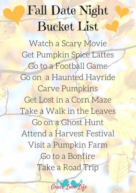 Fall Date Night Bucket List + A New Hashtag!