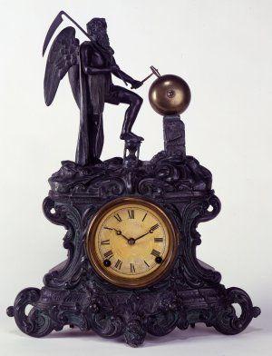 Father Time Shelf Clock, c. 1890