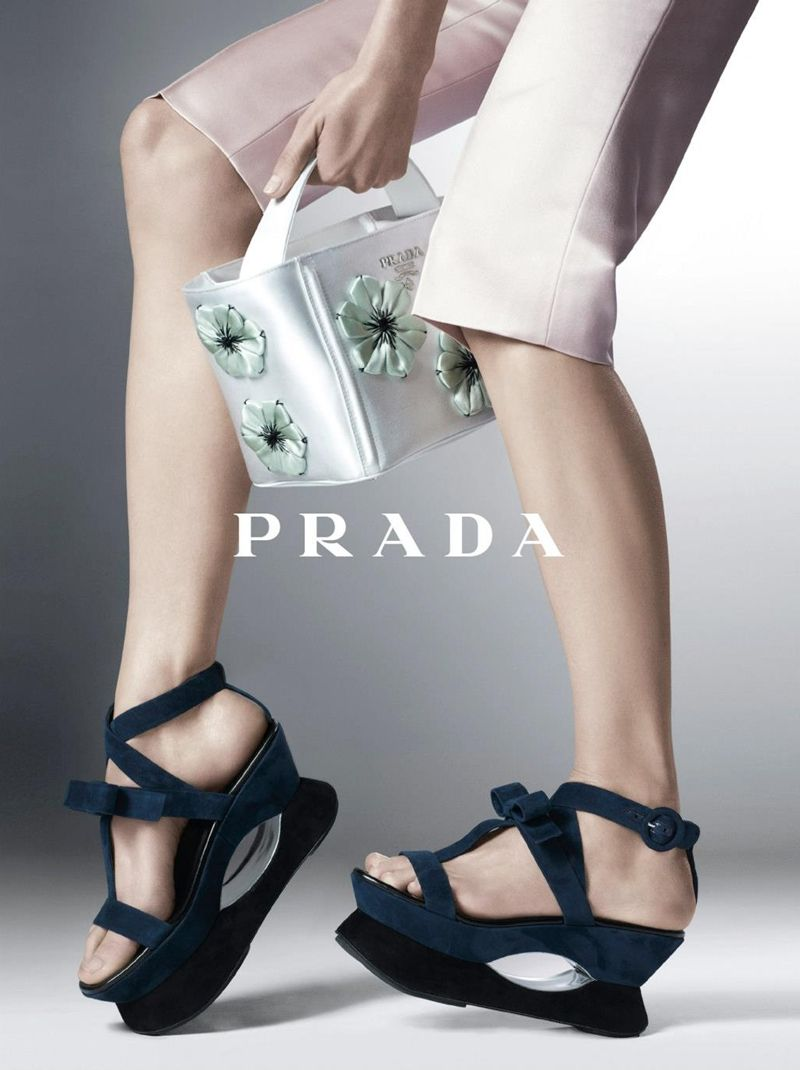 prada shoes making with panties in her mouth