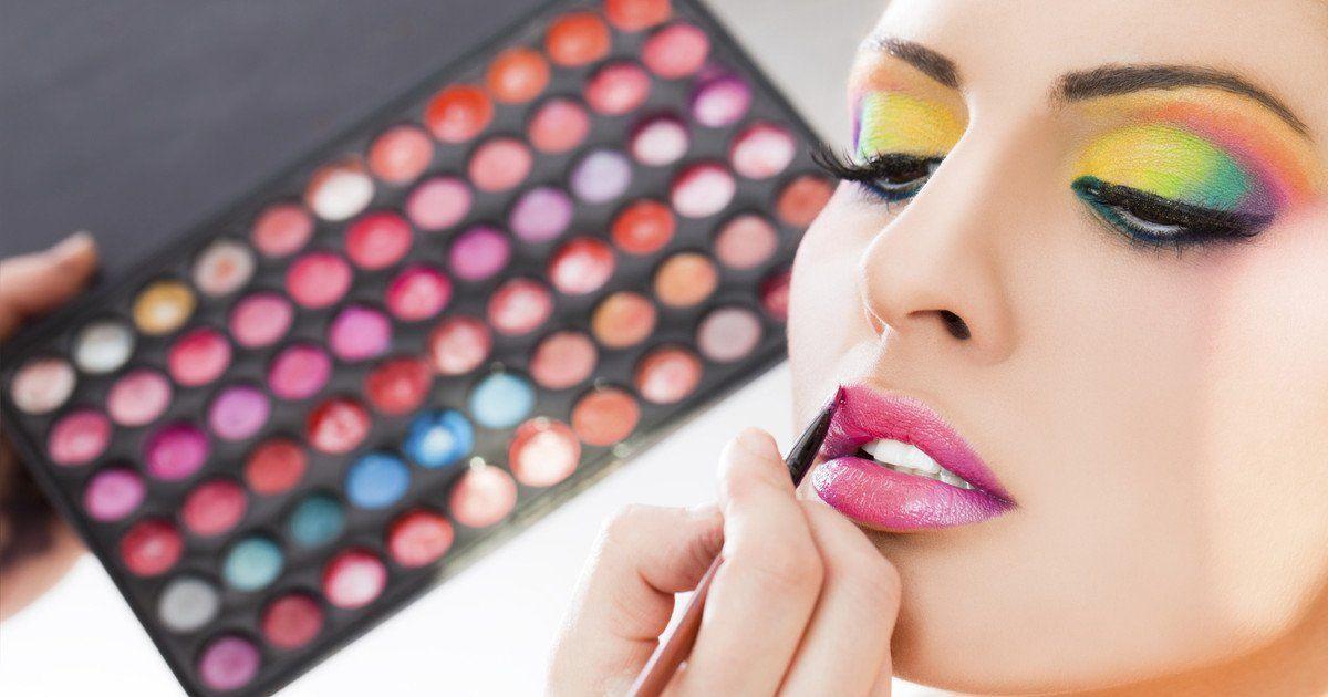 Make Up Der 80er Jahre Auffallig Und Schrill Lidschatten