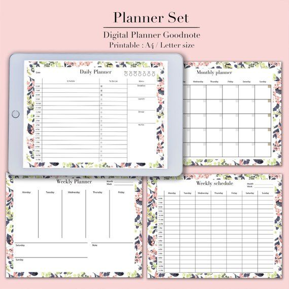 photograph relating to Printable Student Planner Download known as Electronic planner Electronic down load, Planner printable