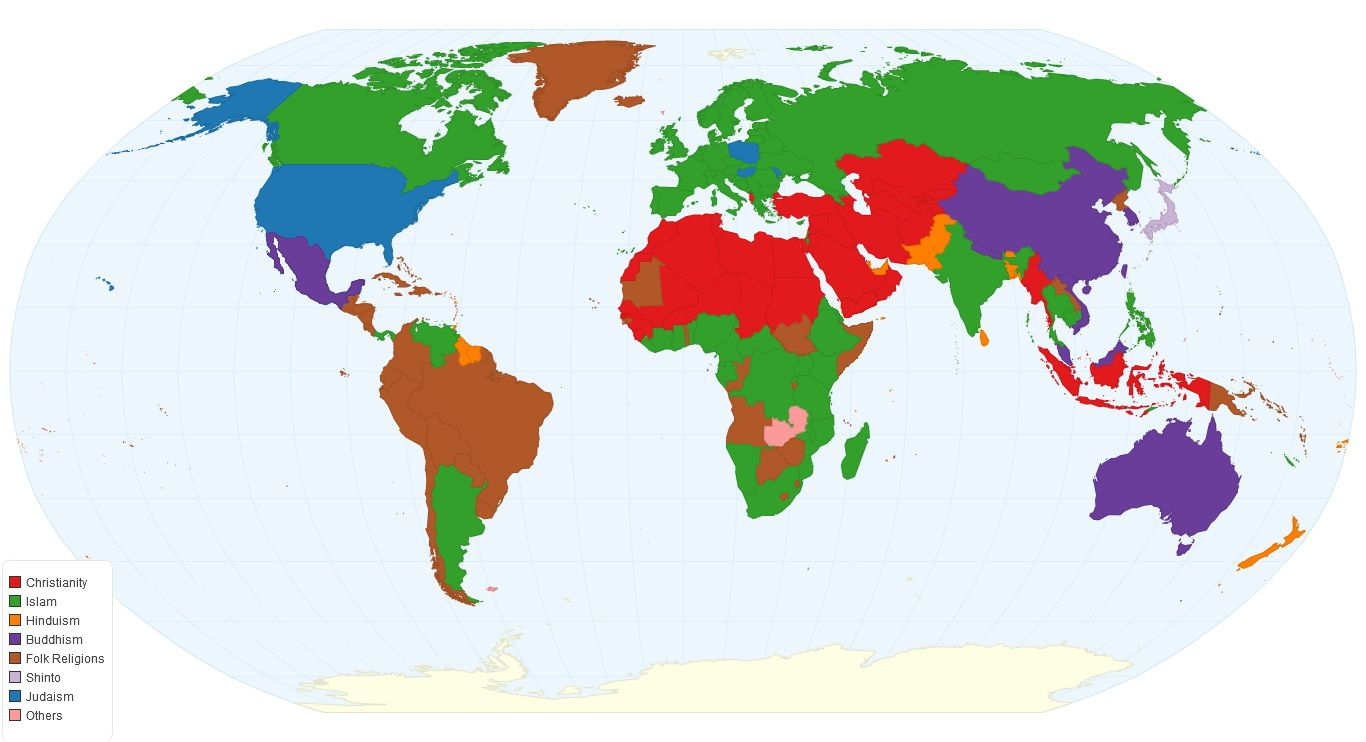 Second largest religion by country world pinterest religion second largest religion by country world mapscountries gumiabroncs Images