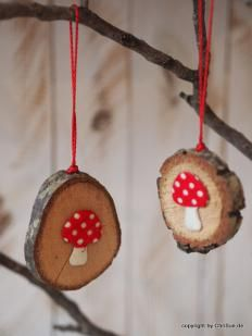 Photo of Wooden toadstool pendant