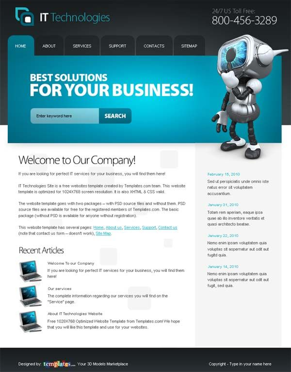 Start your project with top notch free it website template start your project with top notch free it website template webdesign more web ideas at stylendesigns maxwellsz