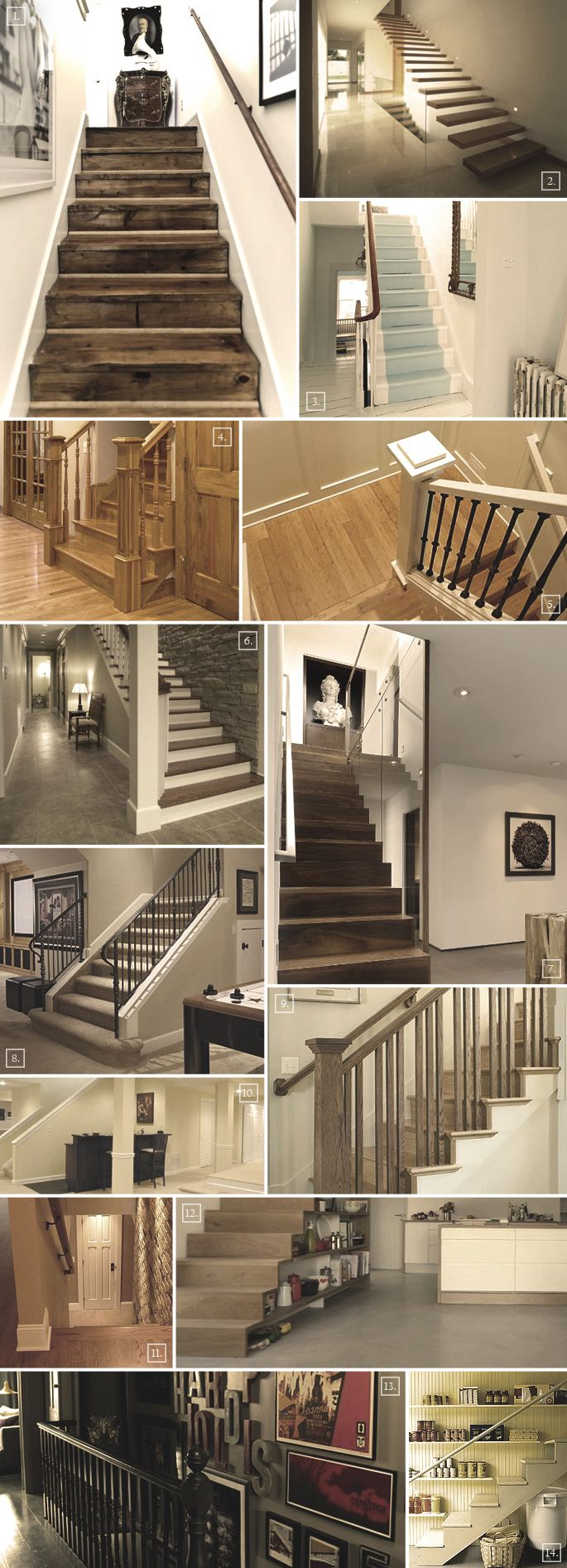 Basement Stairs Design: Ideas For A Basement Staircase: Designs, Railings, Storage