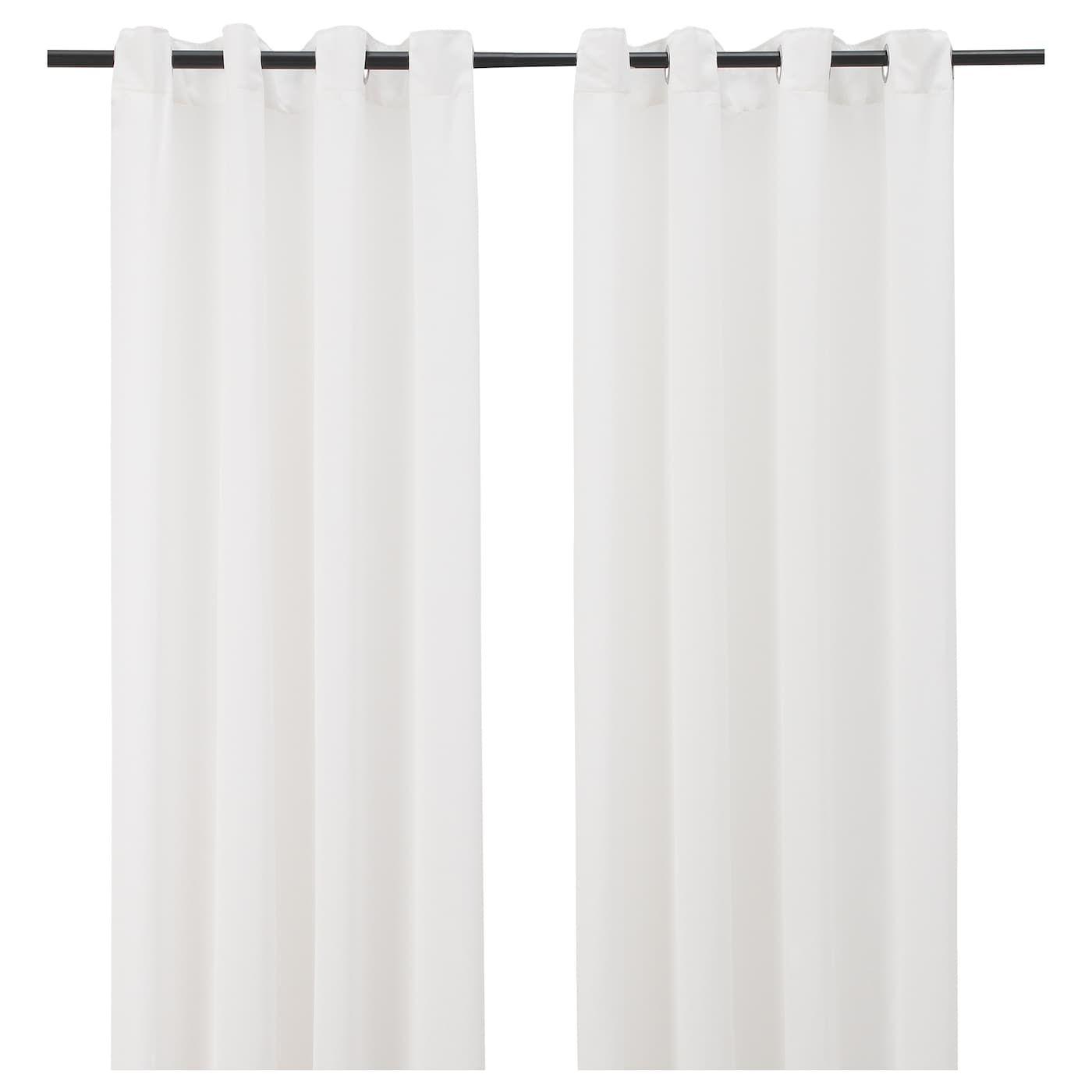 hilja rideaux 2 pieces blanc avec