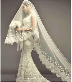 Vintage Wedding Dresses With Veil Google Search Wedding Dresses Lace Long Veils Bridal Wedding Dresses Unique